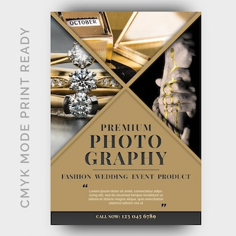 Plantilla de diseño de folleto de estudios de fotografía