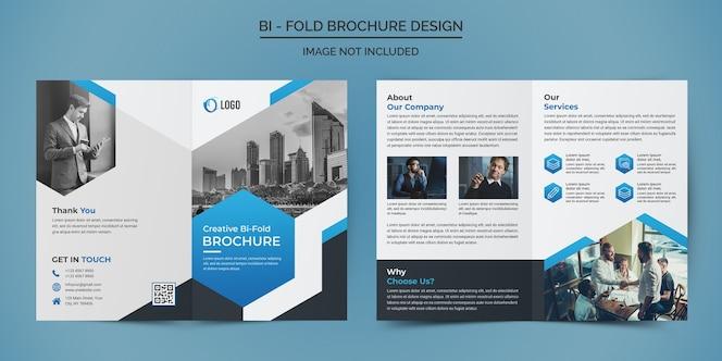 Plantilla de diseño de folleto plegable de negocios corporativos