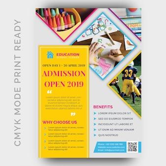 Plantilla de diseño de folleto de regreso a la escuela
