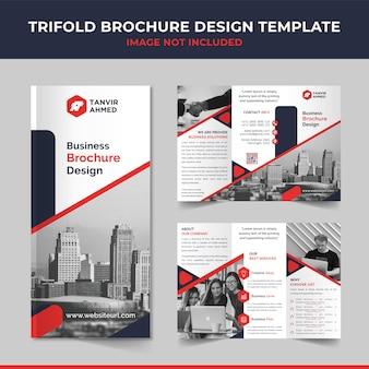 Plantilla de diseño de folleto tríptico empresarial