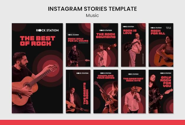 Plantilla de diseño de historias de instagram de música