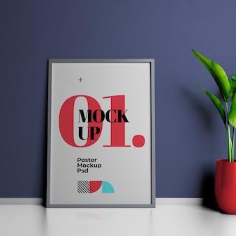 Plantilla de diseño de maqueta de póster