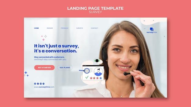 Plantilla de diseño de página de destino de encuesta