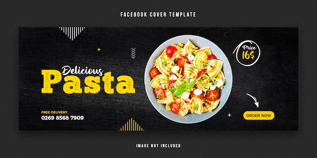 Plantilla de diseño de portada de facebook de alimentos
