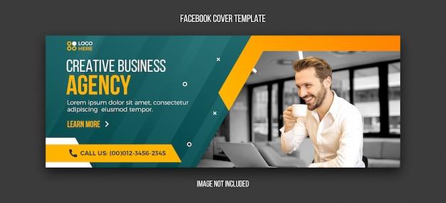 Plantilla de diseño de portada de facebook moderna de agencia