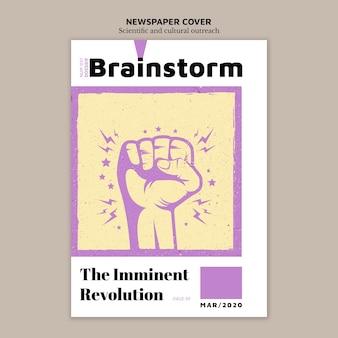 Plantilla de diseño de portada de periódico