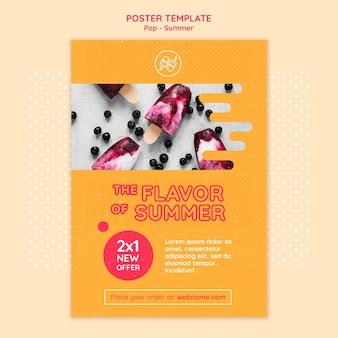 Plantilla de diseño de póster temático gratis