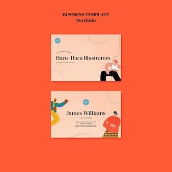 Plantilla de diseño de tarjeta de presentación de cartera