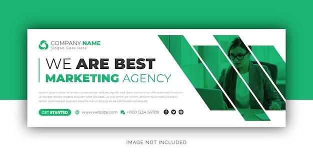 Plantilla de diseño de volante de portada de facebook banner web de redes sociales de agencia de negocios corporativos