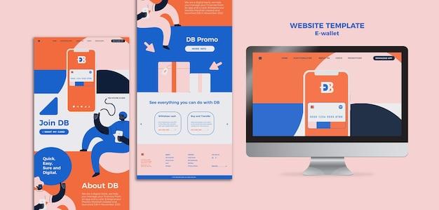 Plantilla de diseño web de billetera electrónica
