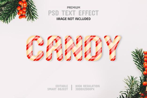 Plantilla editable del efecto del texto del caramelo