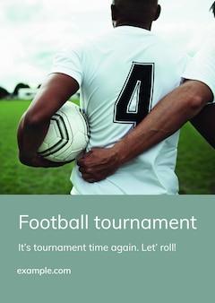 Plantilla editable de torneo de fútbol psd para eventos deportivos