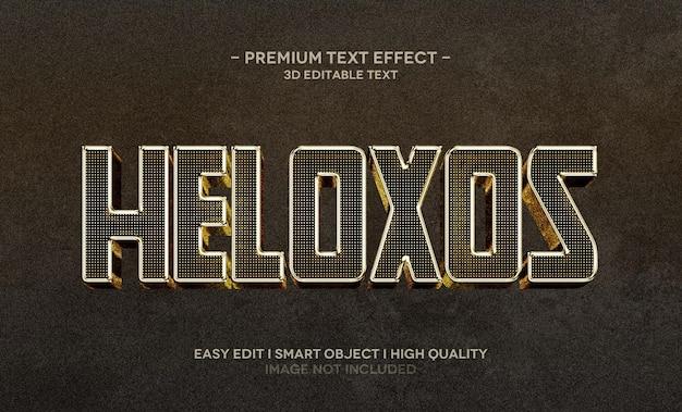 Plantilla de efecto de estilo de texto 3d de heloxos