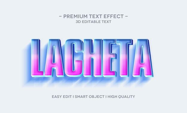 Plantilla de efecto de estilo de texto 3d lacheta
