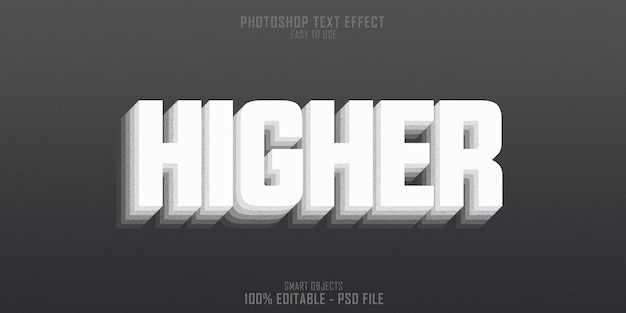 Plantilla de efecto de estilo de texto 3d de nivel superior