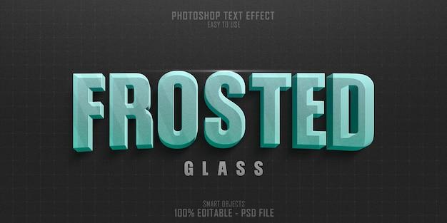 Plantilla de efecto de estilo de texto 3d de vidrio esmerilado