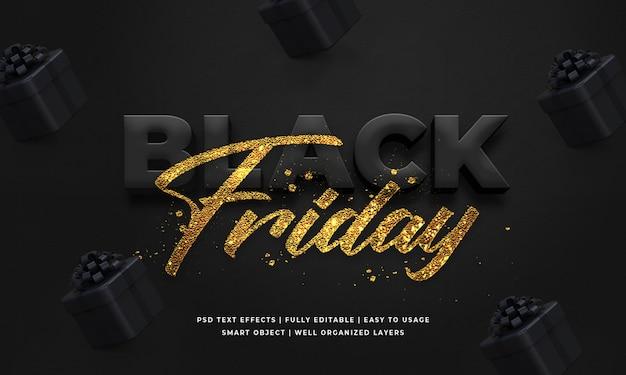 Plantilla de efecto de estilo de texto 3d de viernes negro