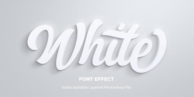 Plantilla de efecto de estilo de texto blanco