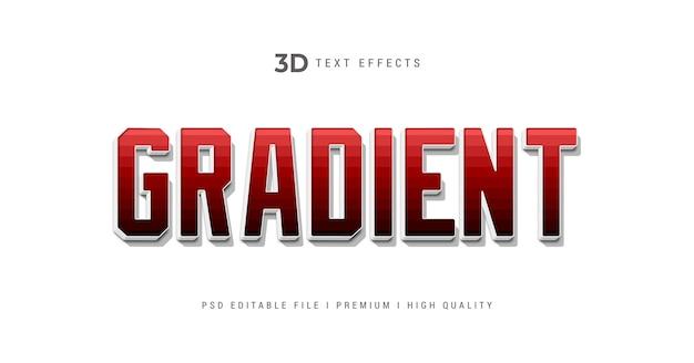 Plantilla de efecto de estilo de texto degradado 3d