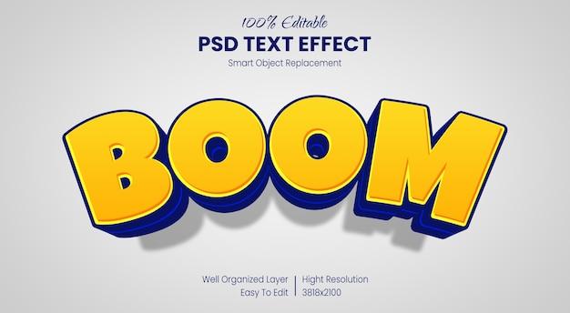 Plantilla de efecto de estilo de texto de dibujos animados 3d