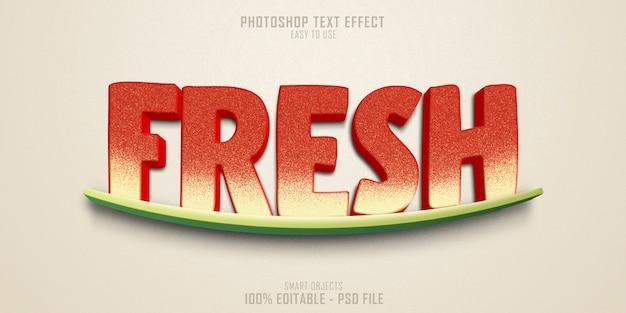 Plantilla de efecto de estilo de texto fresco