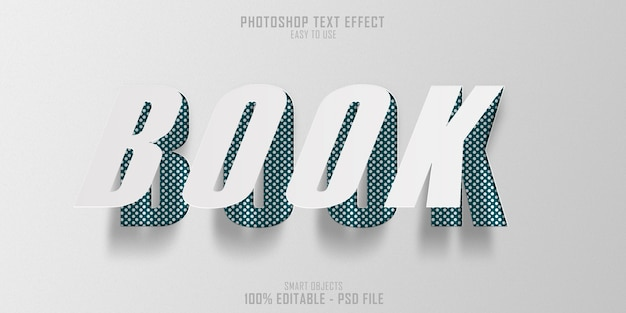 Plantilla de efecto de estilo de texto de libro de papel