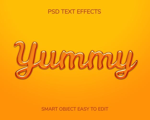 Plantilla de efecto de estilo de texto de miel 3d