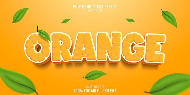 Plantilla de efecto de estilo de texto naranja