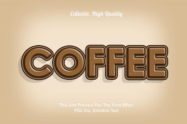 Plantilla de efecto de fuente de café