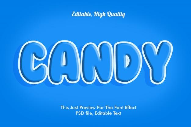 Plantilla de efecto de fuente de caramelo