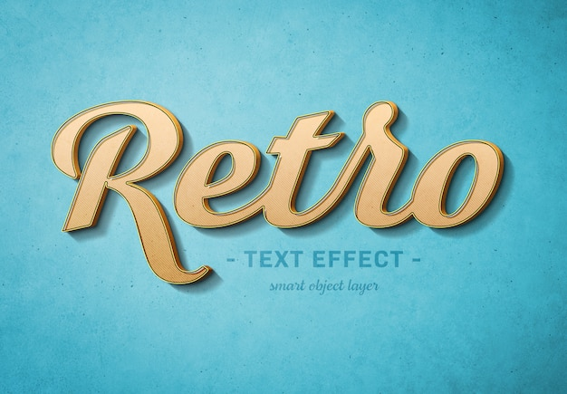 Plantilla de efecto de texto 3d retro
