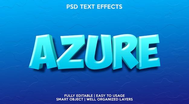 Plantilla de efecto de texto azul