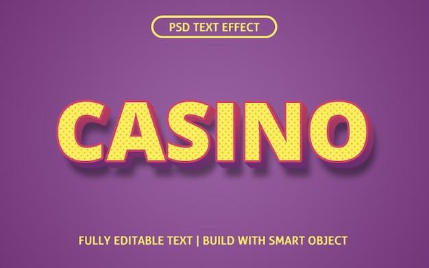 Plantilla de efecto de texto de casino