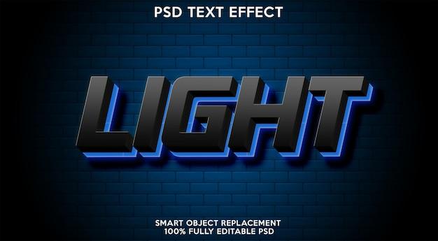 Plantilla de efecto de texto claro
