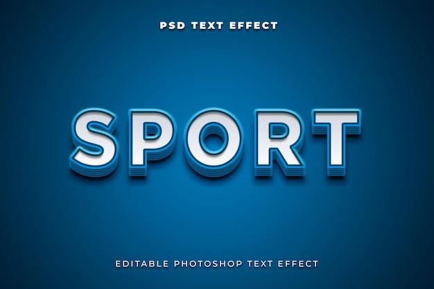 Plantilla de efecto de texto deportivo 3d