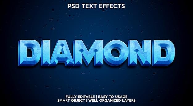 Plantilla de efecto de texto de diamante