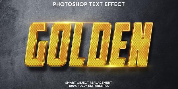 Plantilla de efecto de texto dorado