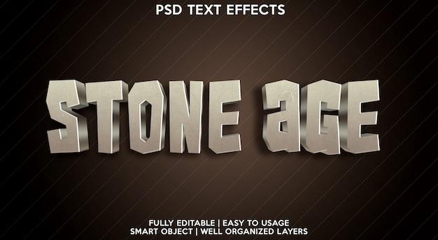 Plantilla de efecto de texto de la edad de piedra