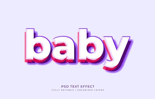 Plantilla de efecto de texto de estilo de capa 3d
