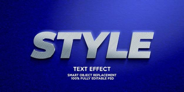 Plantilla de efecto de texto de estilo