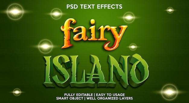 Plantilla de efecto de texto de fairy island