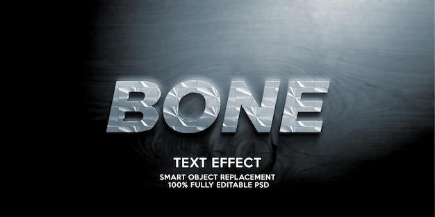 Plantilla de efecto de texto de hueso