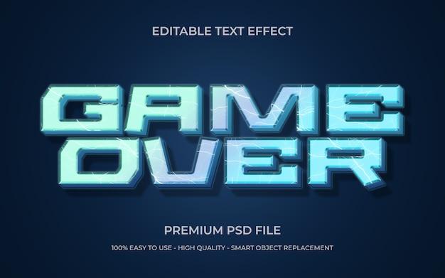 Plantilla de efecto de texto de juego