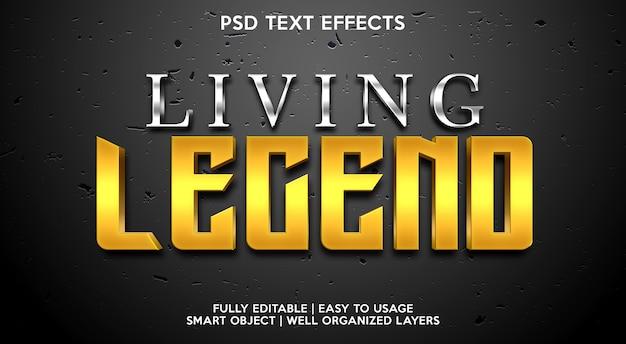 Plantilla de efecto de texto de leyenda viviente