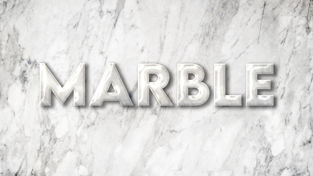 Plantilla de efecto de texto de mármol