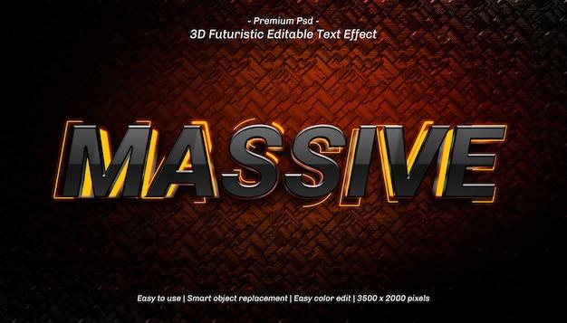 Plantilla de efecto de texto masivo 3d