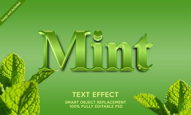 Plantilla de efecto de texto menta