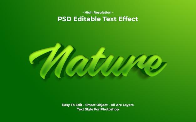 Plantilla de efecto de texto de naturaleza