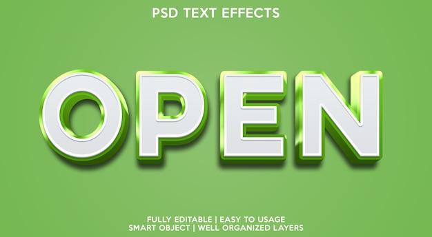 Plantilla de efecto de texto de noticias abiertas