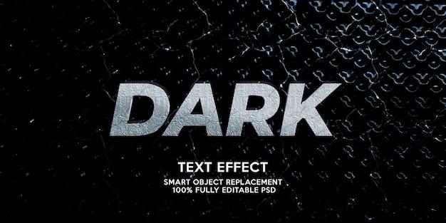 Plantilla de efecto de texto oscuro